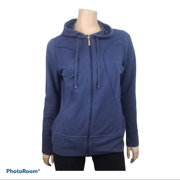 ROOTS Women's Blue Long Sleeved Full Zip Jacket
